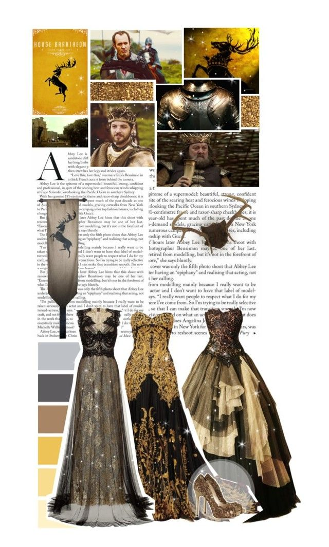 """""""House Baratheon - Game of Thrones Challenge"""" by inlovewithabook ❤ liked on Polyvore featuring Alexander McQueen, Marchesa and Iron Fist"""