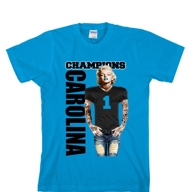 36ec0519 Marilyn Monroe Champions Panthers Unisex T-shirt Sports Clothing ...