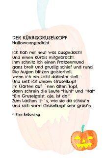 Der Kürbisgruselkopf Herbstgedicht Für Kinder