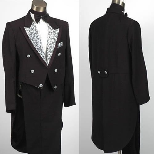 Couture Victorian Edwardian Men Dress Outfits Clothing Costume Tail Tuxedo Sku 10108007