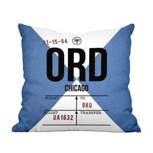 Chicago Landing Throw Pillow