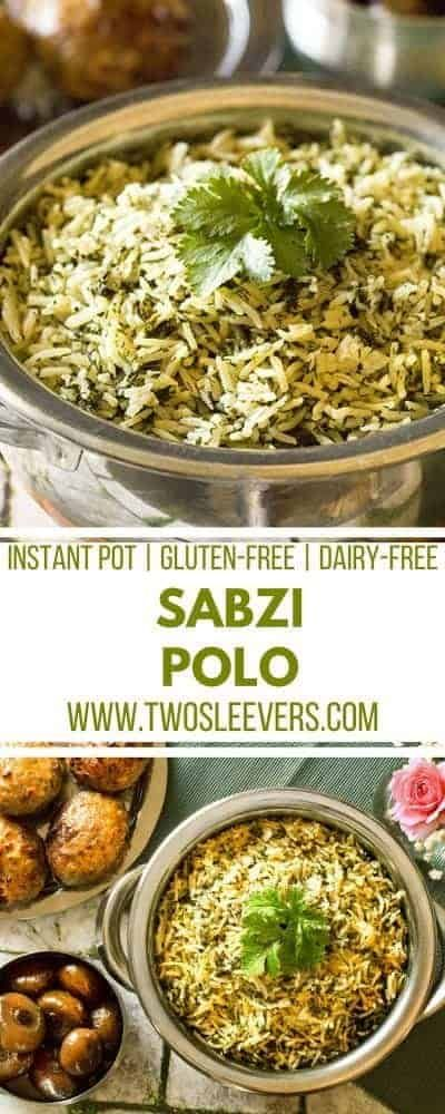 Instant Pot Sabzi Polo #ricecookermeals