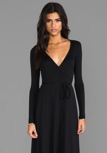 9e1bf7808f2a Rachel Pally Long Wrap Dress in Black .. Absolutely gorgeous ...
