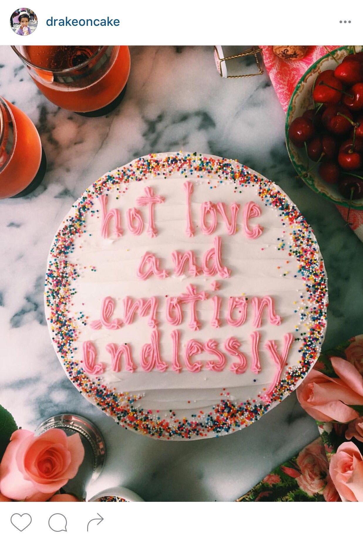 By drakeoncake on Instagram. Drake cake, Cake, Eat cake