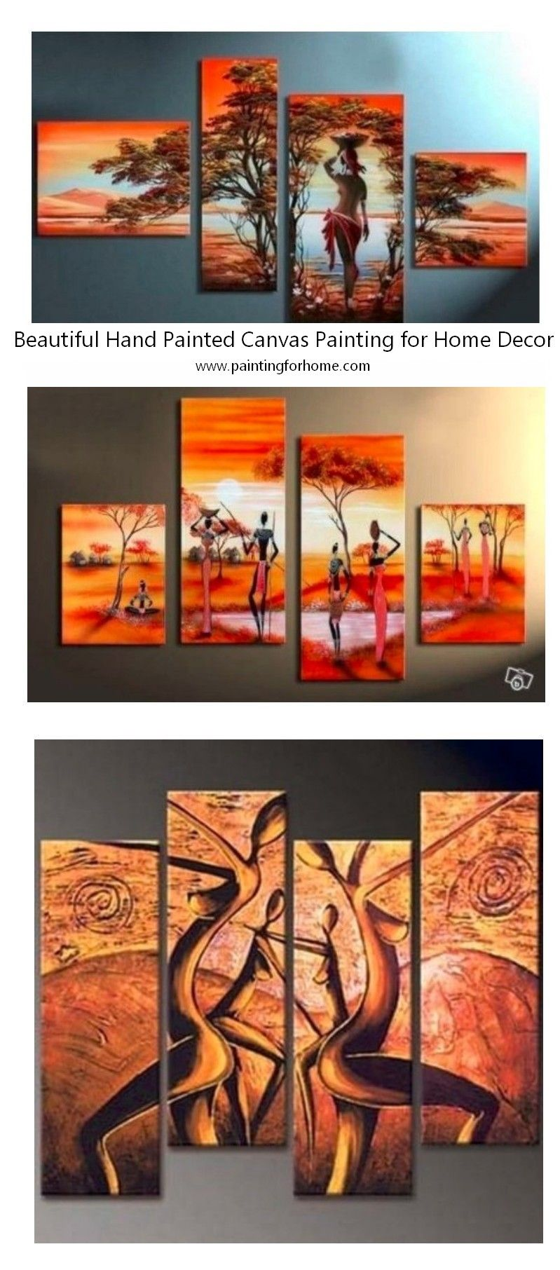 Beautiful African Landscape Paintings African Woman Paintings Acrylic African Wall Paintings Large Canvas Painting Canvas Paintings For Sale Abstract Wall Art Painting