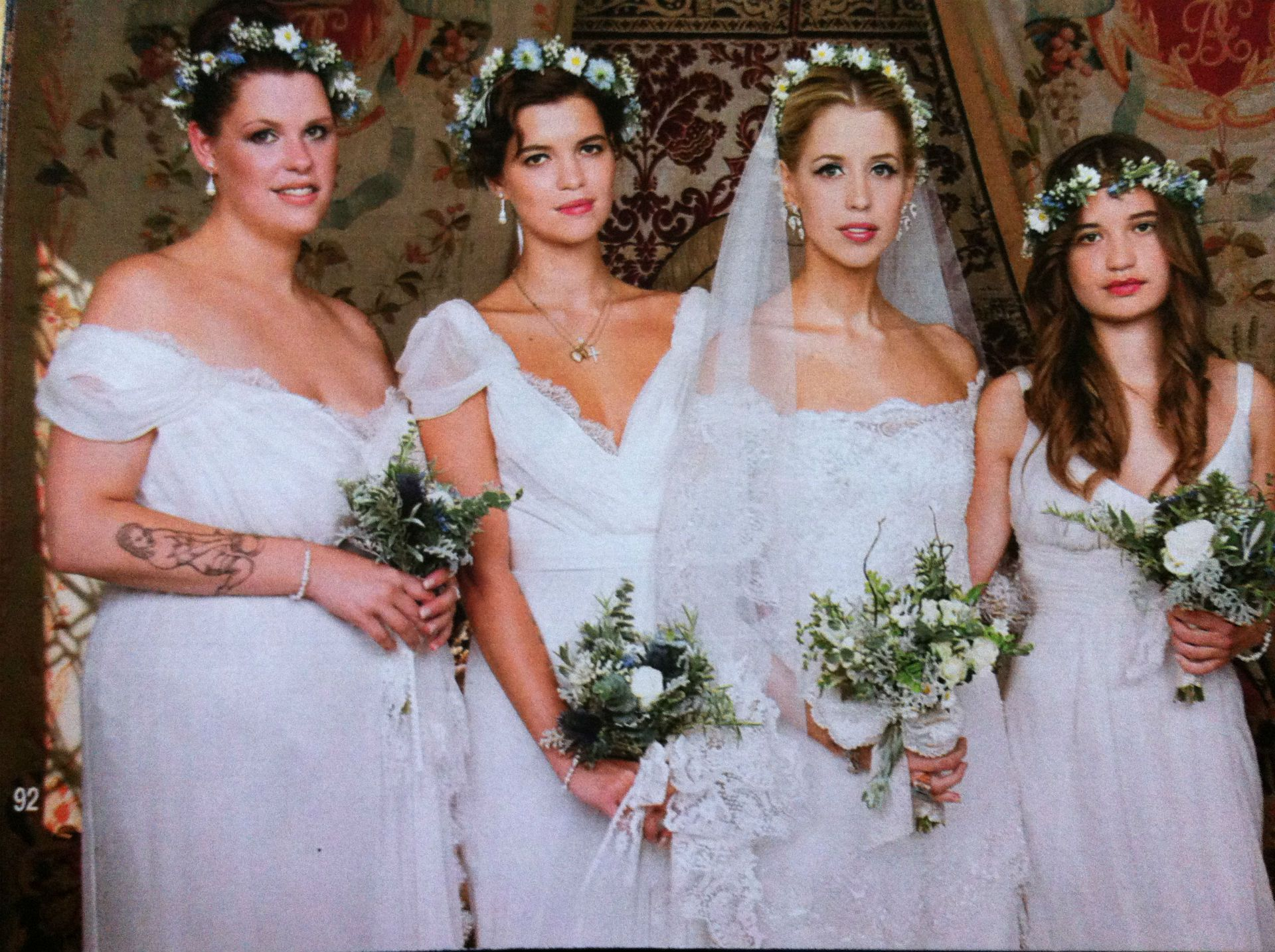 75 best celebrity wedding dresses images on pinterest celebrity peaches with bridesmaids fifi trixiebelle pixie tiger lily ombrellifo Choice Image