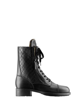 Chanel Quilted Combat Boots 3 Fiercely Fashionable Pinterest
