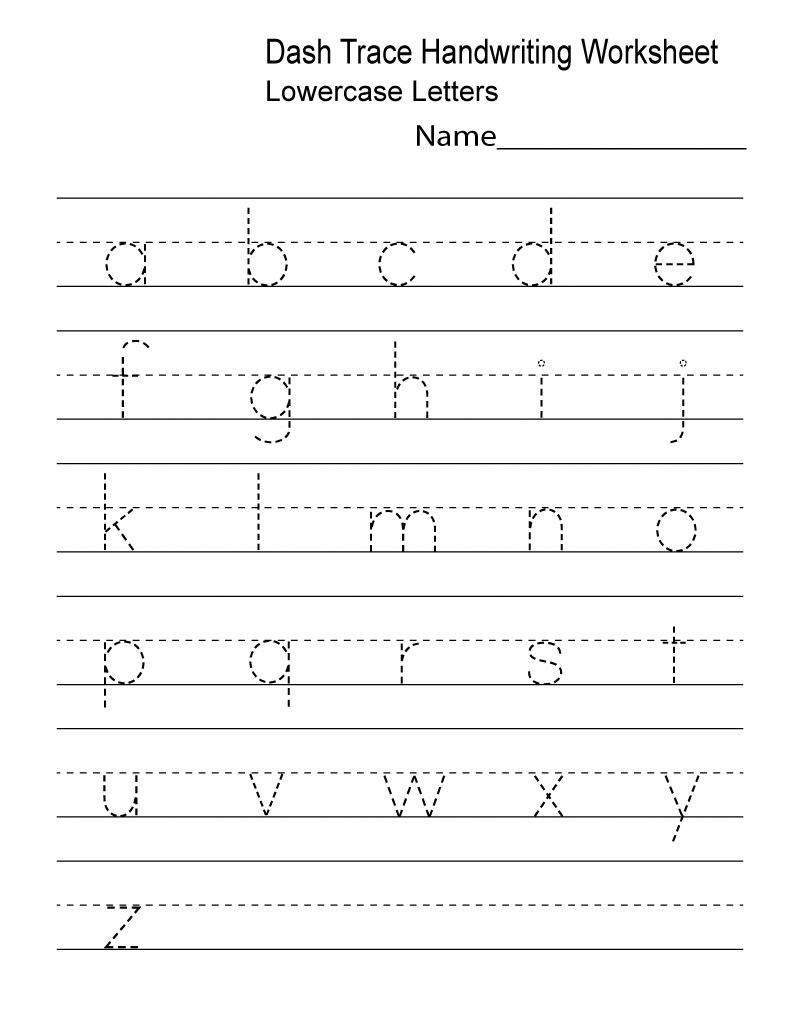 Preschool Writing Lowercase Tracing K5 Worksheets