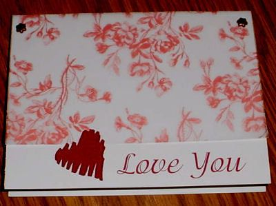 homemade valentine cards | Making Valentine Cards Love You Handmade Card Idea