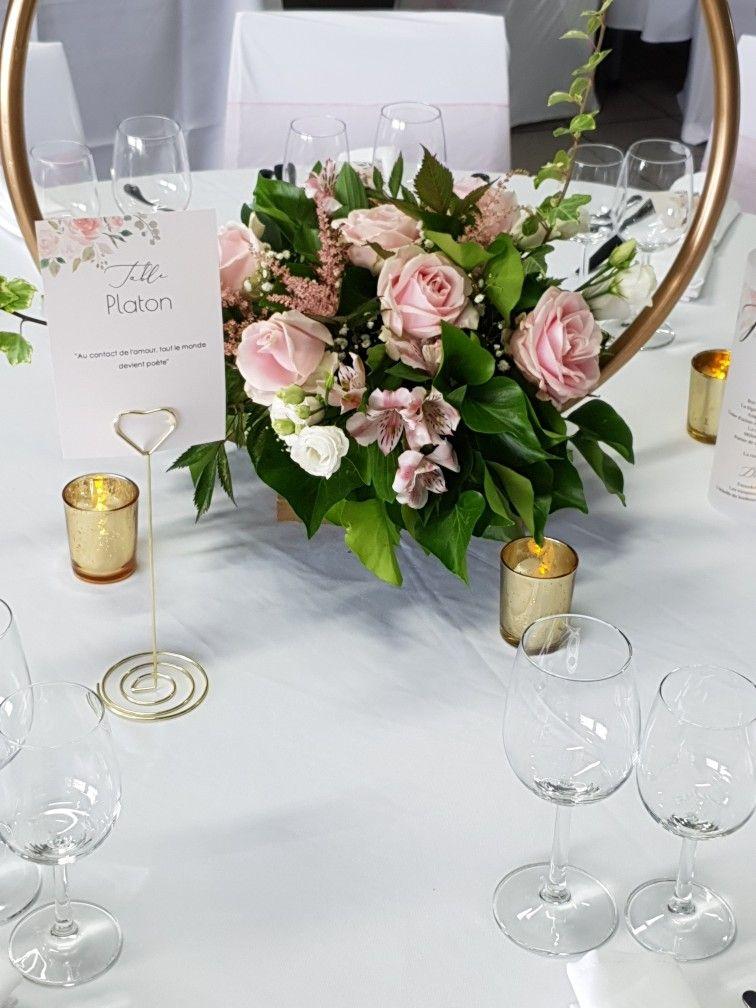 Centre De Table Cercle Cerceaux Decoration Mariage Romantique Centre De Table Mariage Deco Mariage Champetre