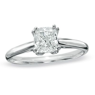 1 ct certified cushion cut solitaire engagement