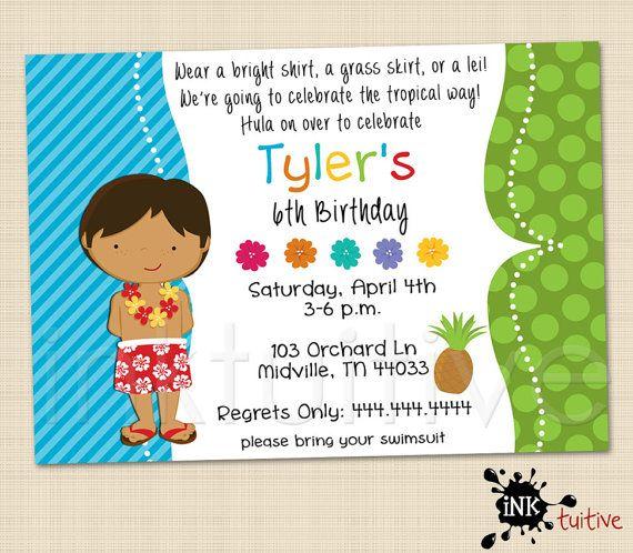 Hula luau boy digital invitation luau invite birthday party hula luau boy digital invitation luau invite birthday party invitation printable invite stopboris Images