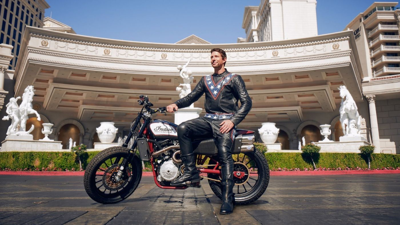 X Games champ Travis Pastrana is out to bust Evel Knievel