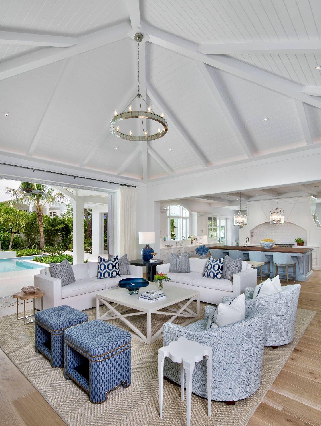 Modern beach house living room decor  #coastallivingrooms