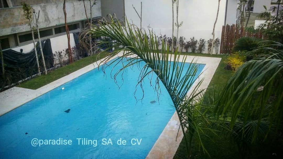 ... Paradise Tiling SA De CV Contratistas/ Contractors Playa Del Carmen    Reihenhausgarten Und Pool Meersalzwassertauchbecken ...