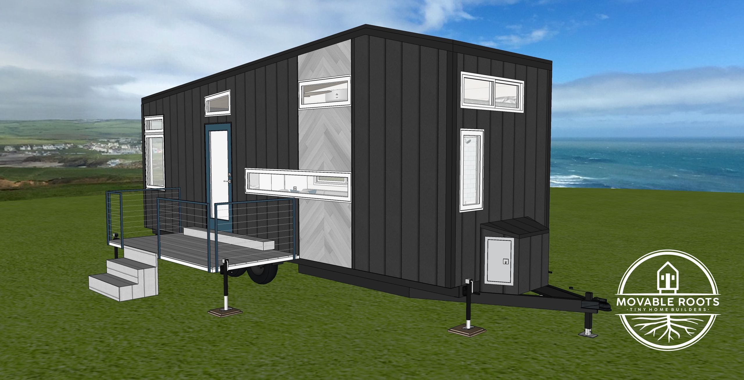 The Grant Rendering side view  Tiny house luxury, Tiny house