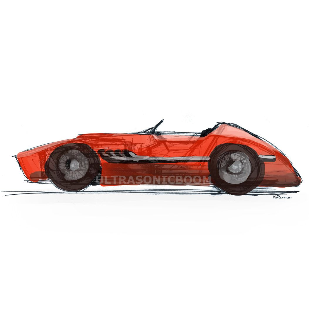 Vintage F1 Racing Car From 60s Color Print Of My Original Sketch Drawing Boy S Nursery Playroom Wall Art Gift Playroom Wall Art Wall Art Gift F1 Racing [ 1054 x 1053 Pixel ]