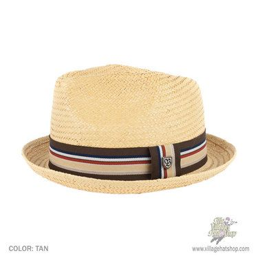 daa0652f6b7b16 An ultra hip toyo straw fedora, designed with a center dent pinch front  crown and stingy brim.