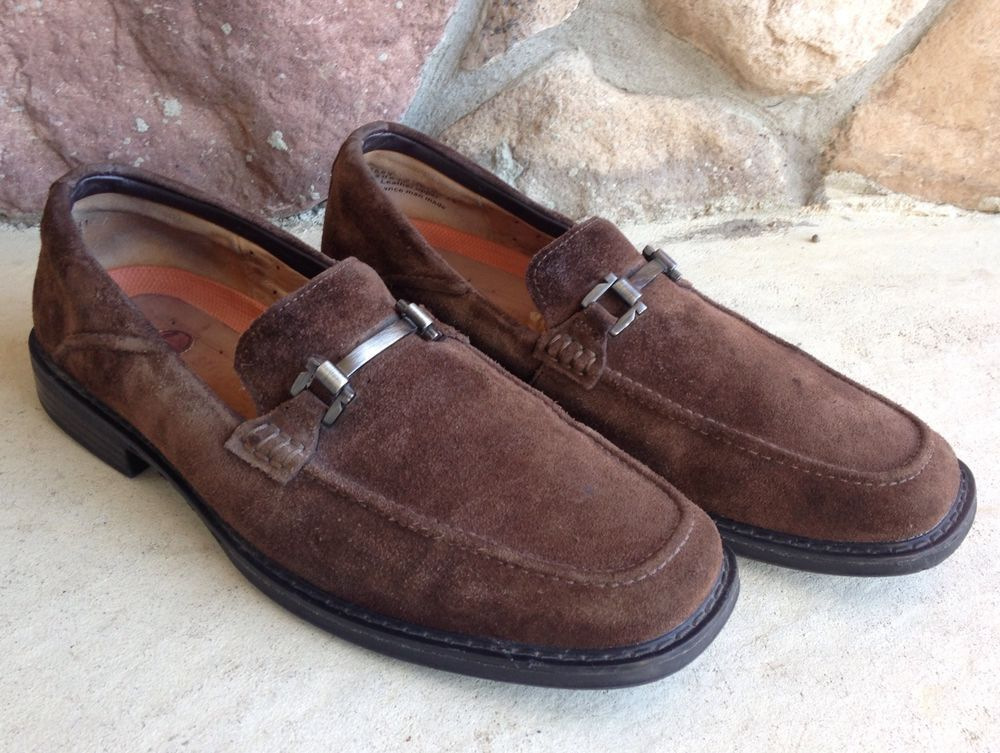 Clarks Brown Unstructured Size 8 5 Suede Loafer Slip on Shoes | eBay