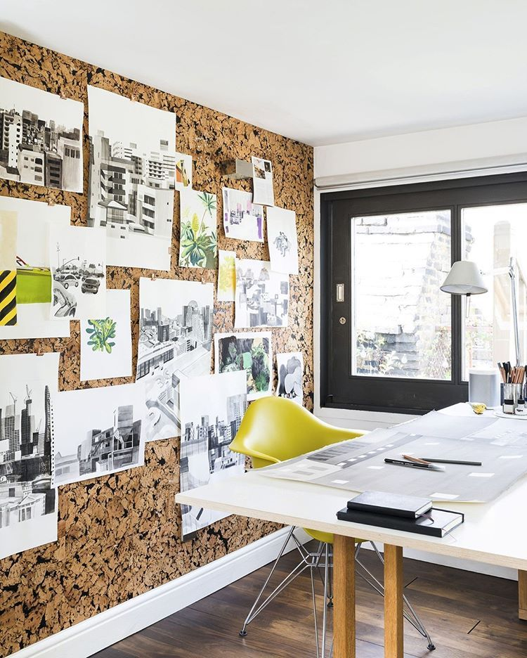 Now That Is An Impressive Corkboard You Can Actually Buy Self Adhesive Cork Tiles From Places Like Amazon And Rec Cork Board Wall Wall Board Office Wall Decor