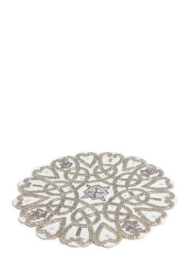 Beaded Placemat Marks Spencer London Placemats Decorative Runner Festive Dining Table