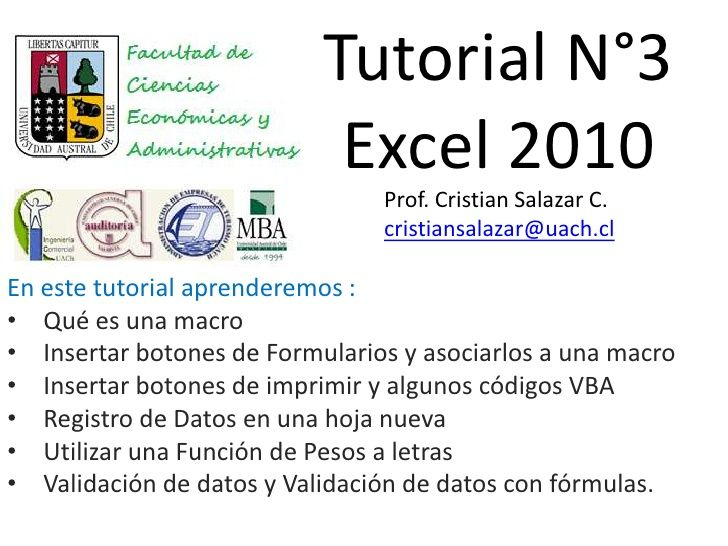 Tutorial N3 Excel 2010 By Cristian Salazar Via Slideshare Tutorial Excel Word Search Puzzle
