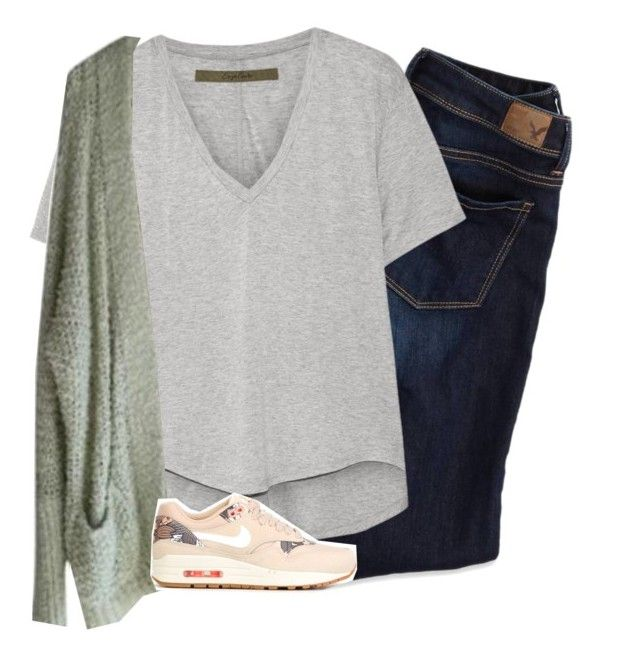 """"""""""" by i-am-bryana ❤ liked on Polyvore featuring American Eagle Outfitters, Enza Costa, Free People and NIKE"""