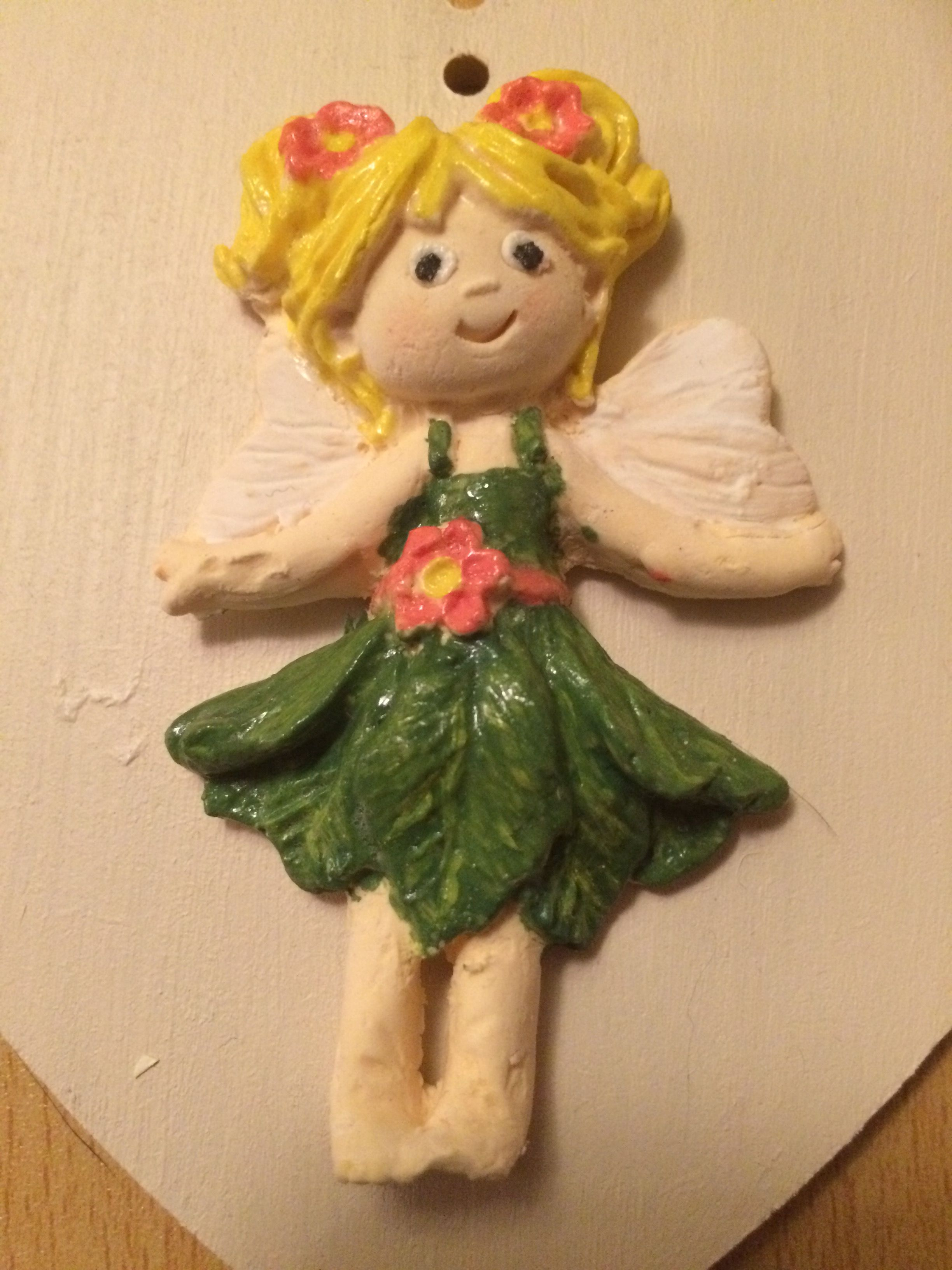 Air dry clay and acrylic paint using sugar buttons mould