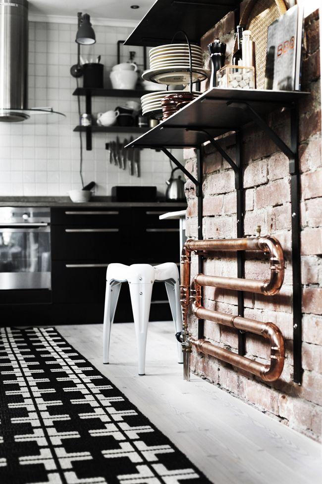 Vårt egendesignade kopparelement Radiators, Kitchens and Industrial