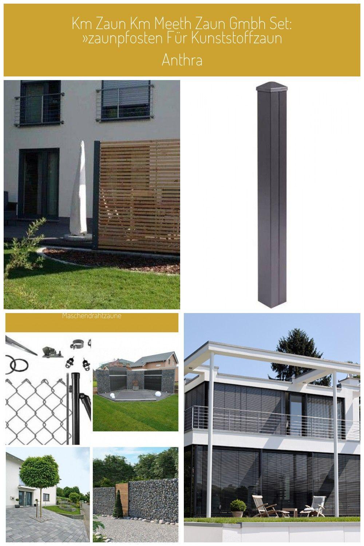 Sichtschutz Zaun Holz Anthrazit Metall Larche Modern