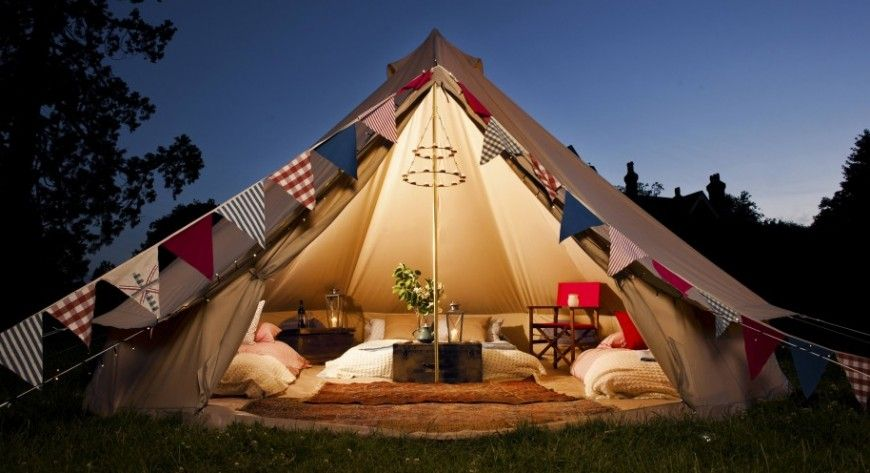 Pin by Poppy Goodall on Glamping | Bell tent glamping
