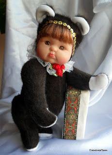 Текстильные игрушки и вышивка.: Мишки Тедди- продолжение творческих поисков....