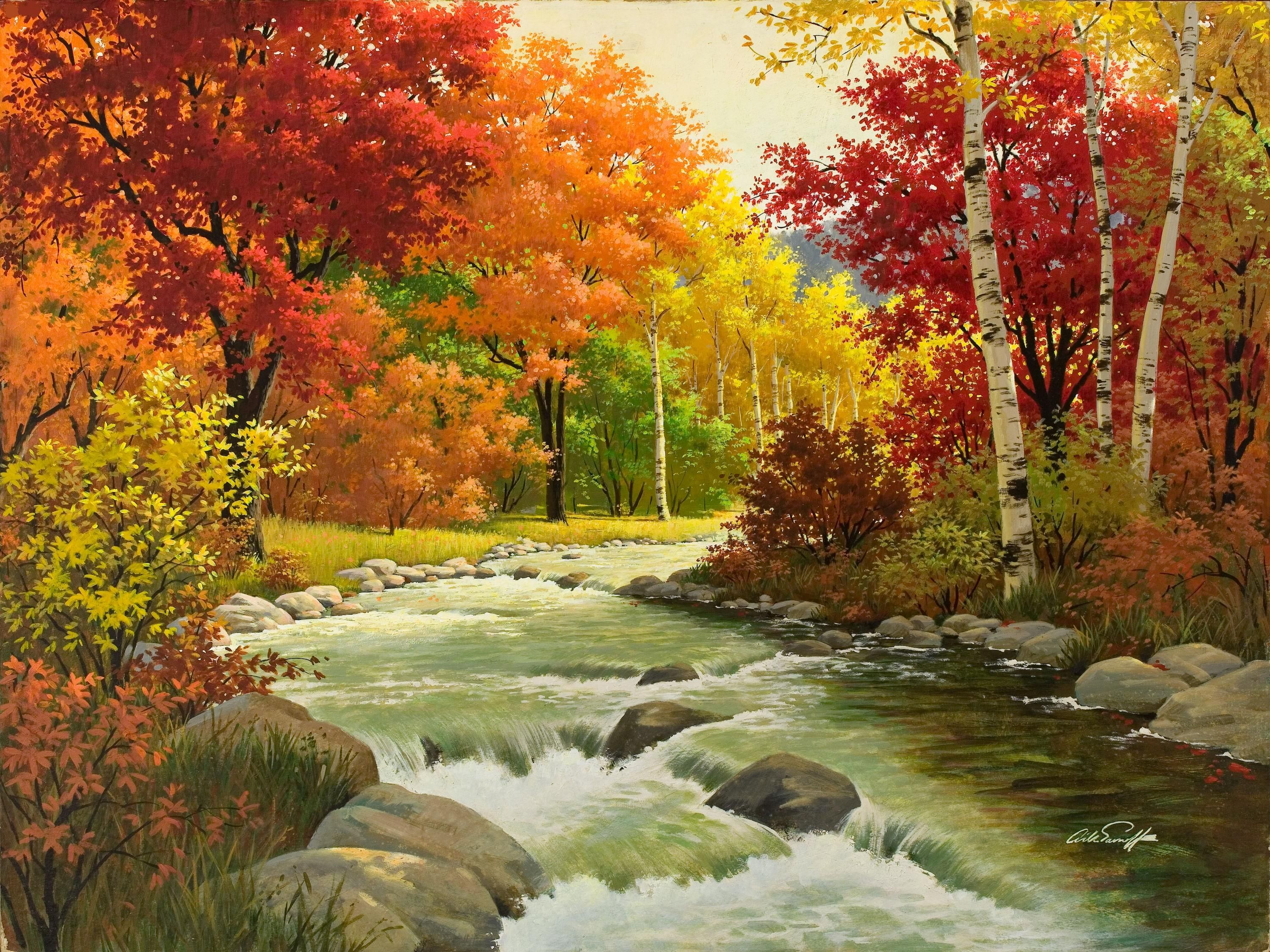 free autumn forest nature