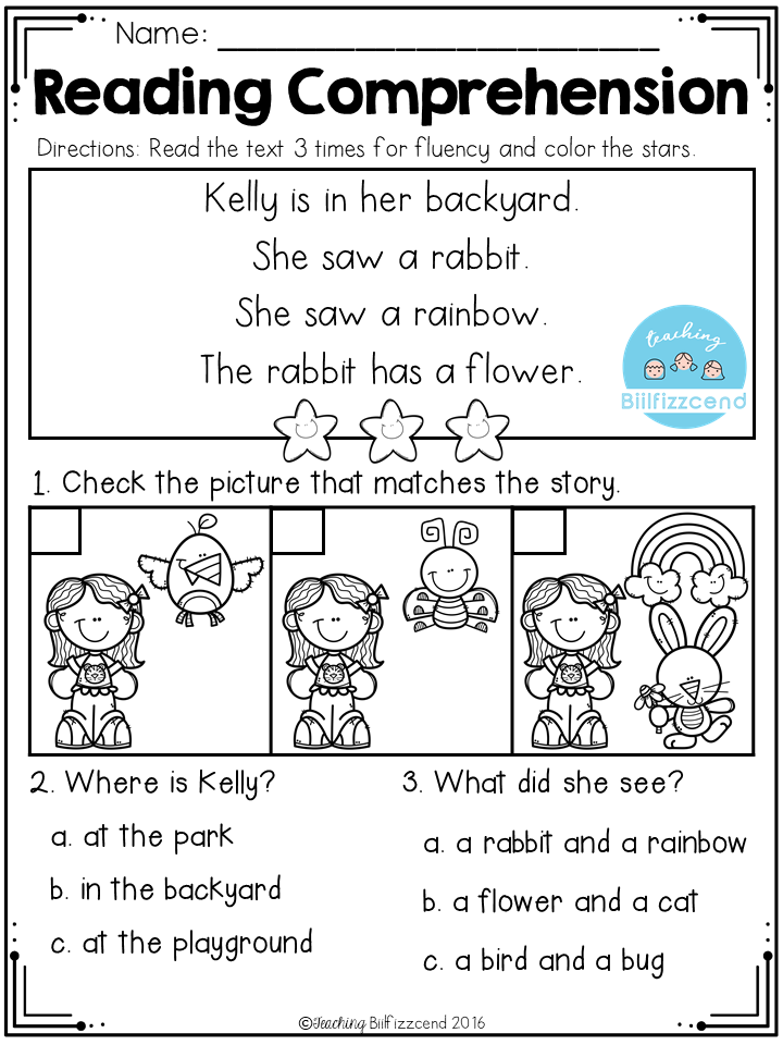 FREE Reading Comprehension Read and Match | Preschool - Reading ...