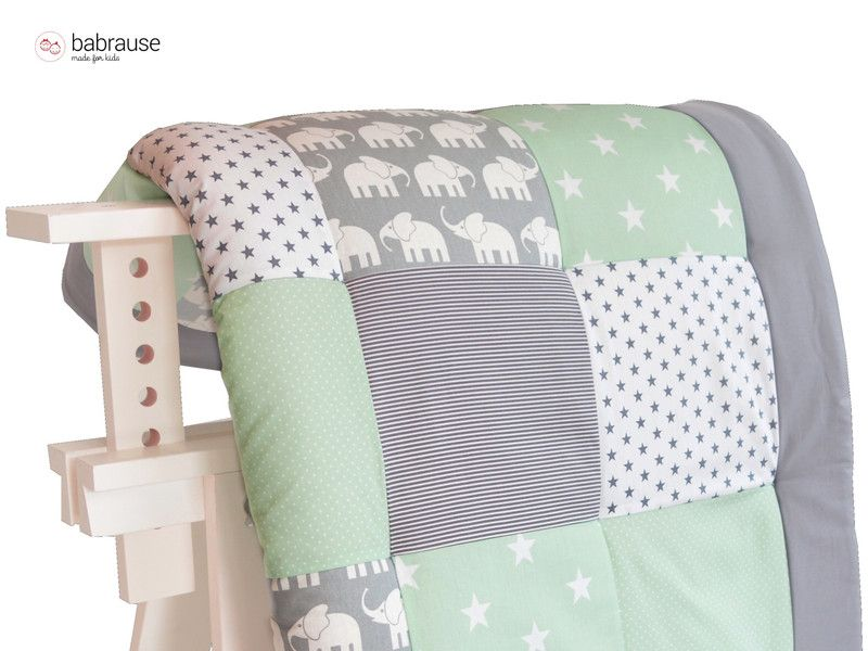 krabbeldecken krabbeldecke babydecke laufstall mint elefant ein designerst ck von babrause. Black Bedroom Furniture Sets. Home Design Ideas