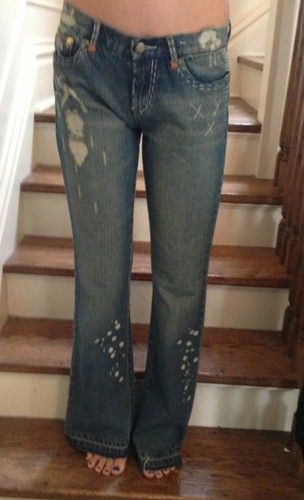 $52.00 Free Shipping Joe's Jeans 28 Vintage Series 1971 Hippie Boho Flare Hand Crafted Stewart