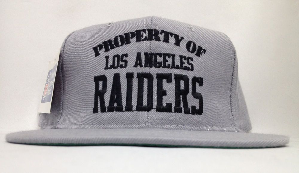 3a2cdc27d7748 VINTAGE DEADSTOCK PROPERTY OF LA RAIDERS NEW ERA SNAPBACK HAT CAP NEW WITH  TAGS