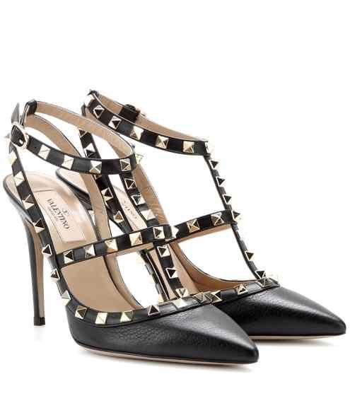 Rockstud Valentino Cuir Shoes En Garavani Escarpins q8ParwI8