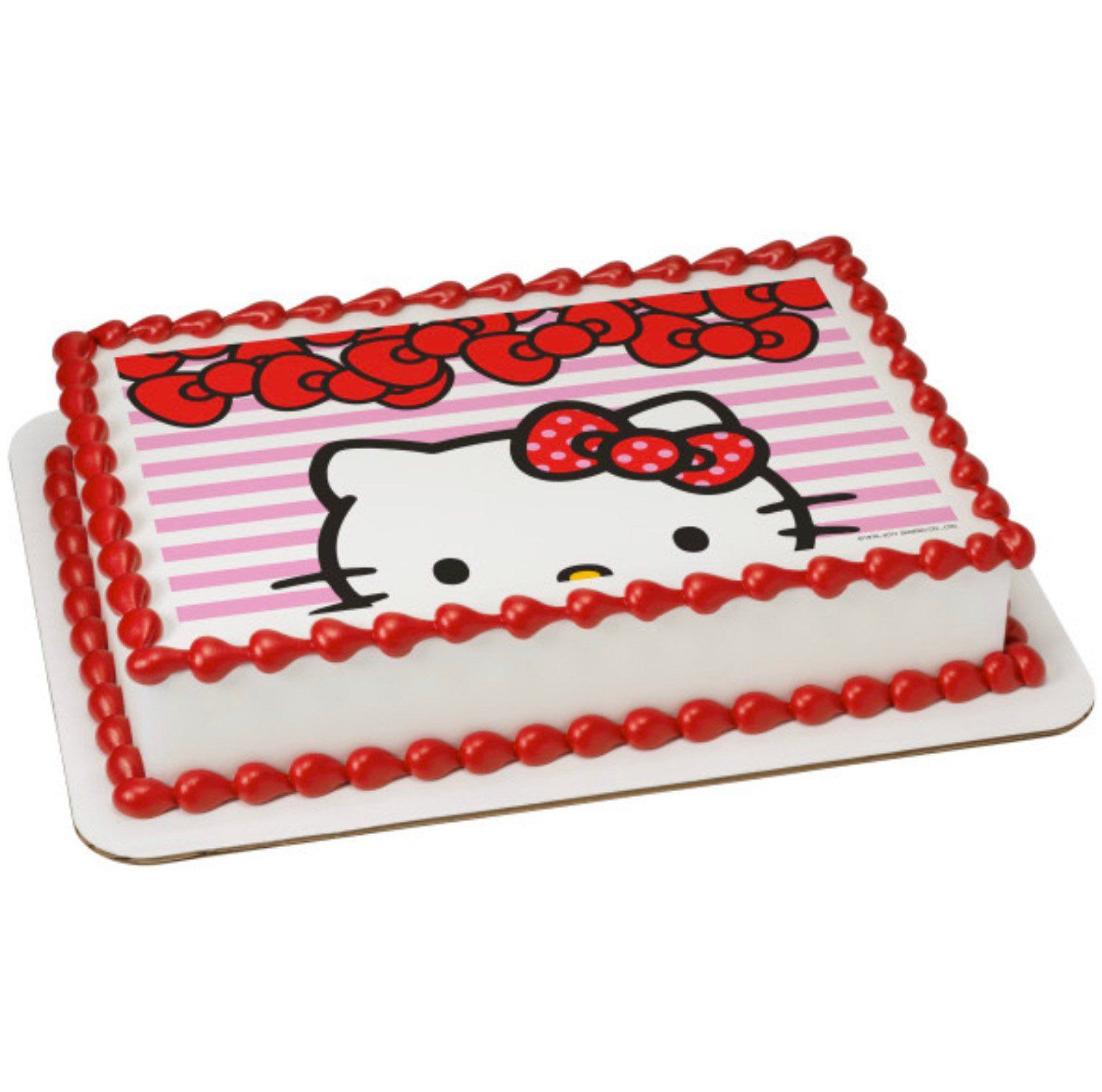 Hello kitty big smiles edible cake image hello kitty big
