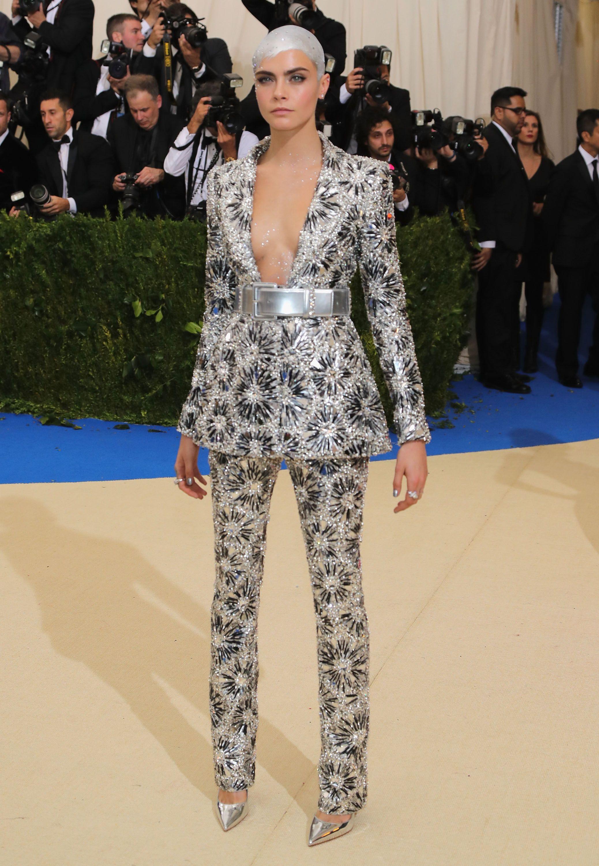 Cara Delevingne In Chanel Hostile Takeover In 2019 Met Gala Red