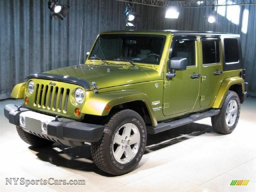 2008 Wrangler Unlimited Sahara 4x4 Rescue Green Metallic Dark