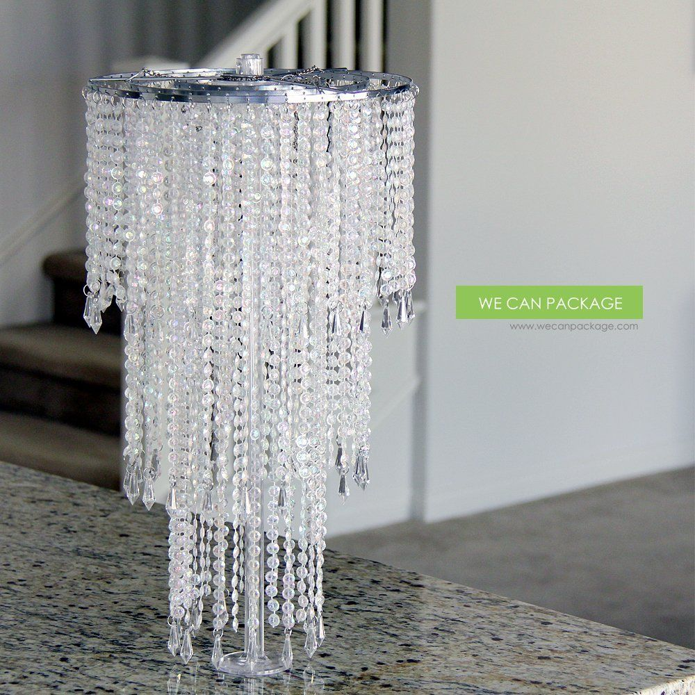 We can package 20 wedding sparkle beaded chandeliers centerpieces we can package 20 wedding sparkle beaded chandeliers centerpieces decorations crystal bling for event party aloadofball Images