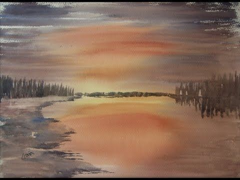 Watercolour Landscape Painting Demonstration Featuring Tay Forest