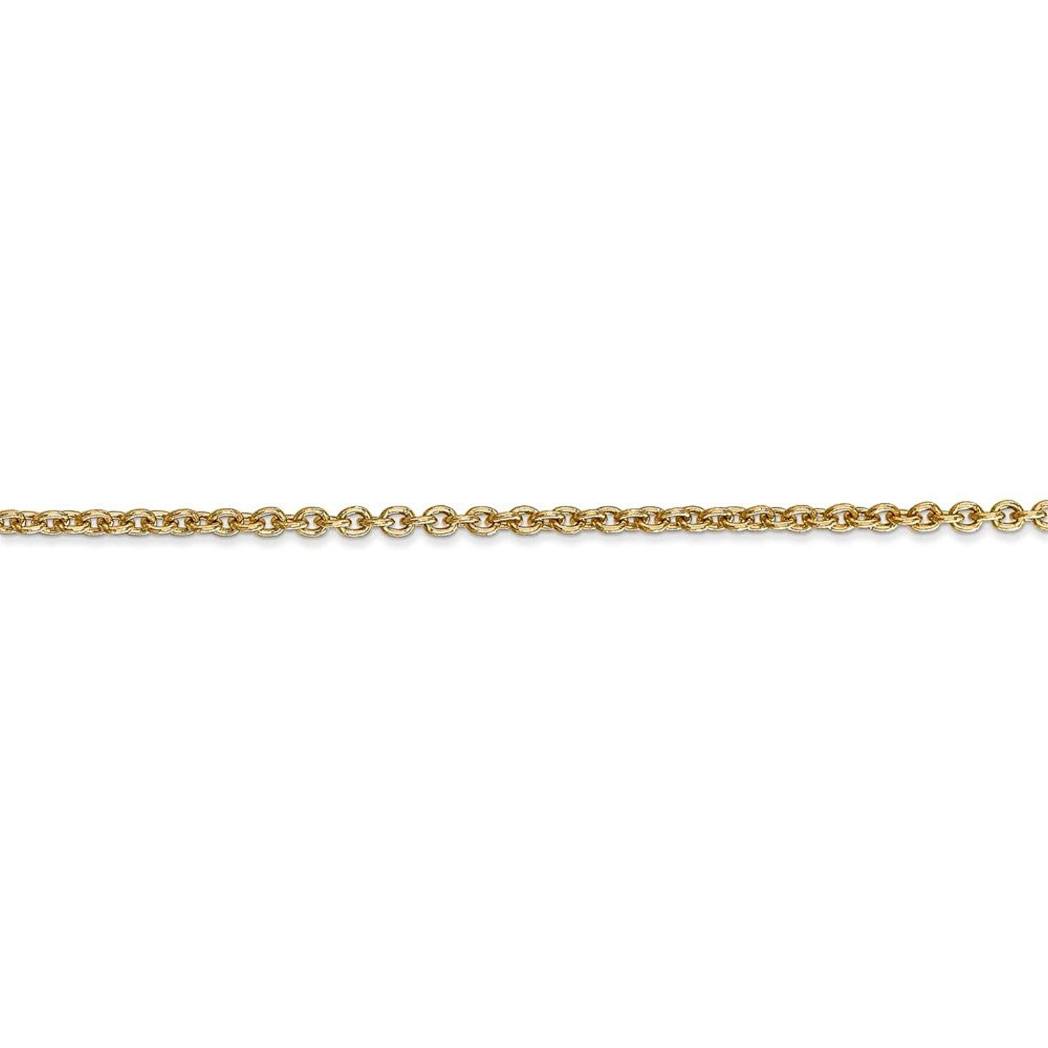 with Secure Lobster Lock Clasp 14k White Gold 1.2mm Solid Diamond-Cut Spiga Chain