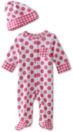 17d88258fcf95 Amazon.com  Offspring - Baby Girls Dot Footie and Hat  Clothing 3m ...