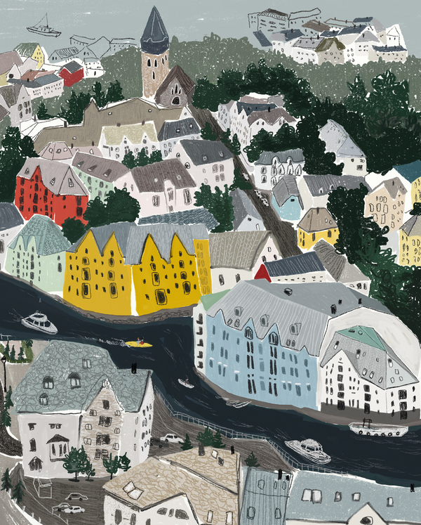 norway by Ophelia Pang on Artfully Walls in 2020