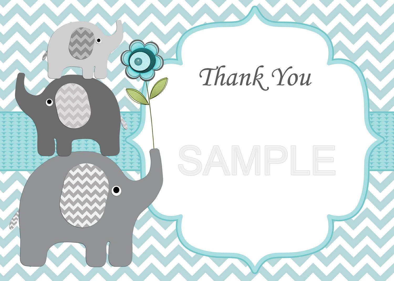 Baby Shower Invitation Boy Baby Shower Invitation Elephant Baby ...