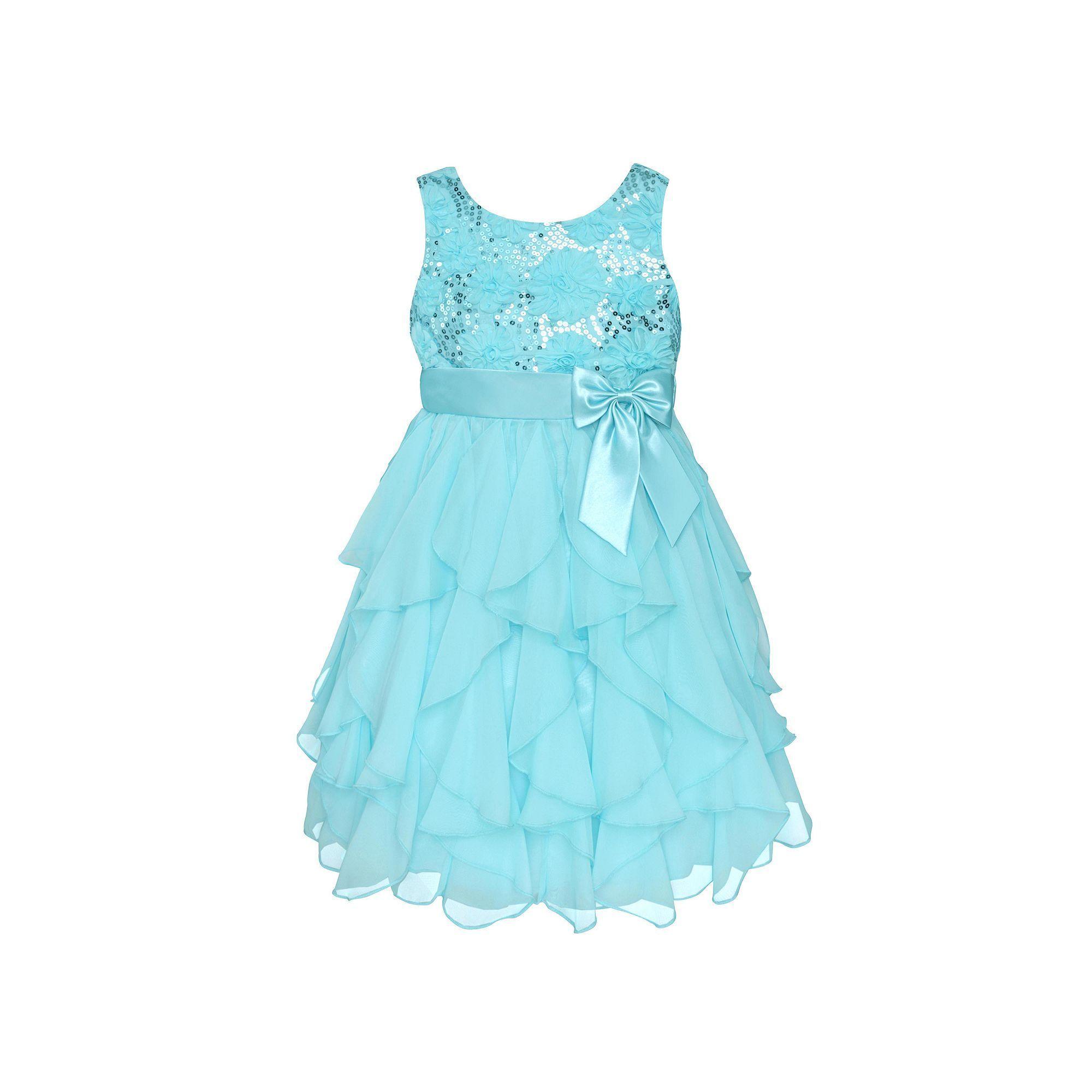 2c918d8a41b68 Girls 7-16   Plus Size American Princess Sequin Bodice   Corkscrew Skirt  Dress