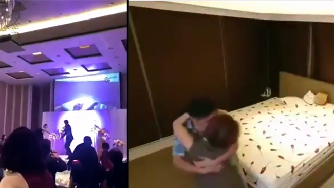 Chinese Groom Plays Video Of Cheating Bride In Bed With