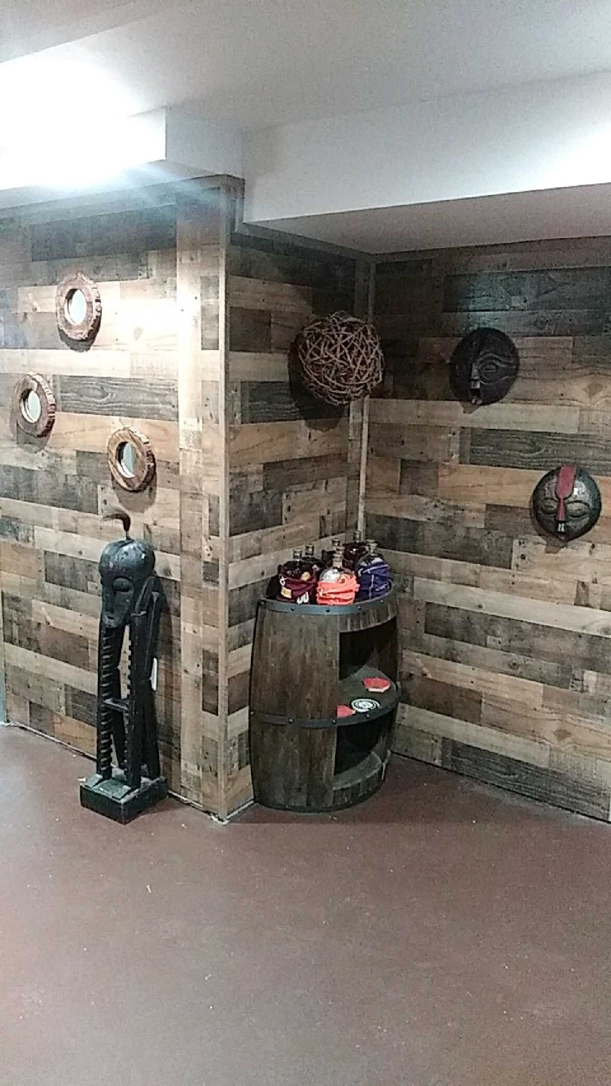 Basement Wood Paneling: Pin By Goodie9 On Basement Bar Using Wood Panels And Wall